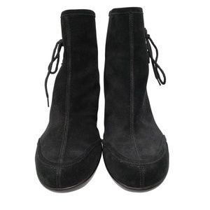 YOU by Crocs Shoes - YOU by Crocs Black Suede Wedge Ankle Boot Sz 10.5
